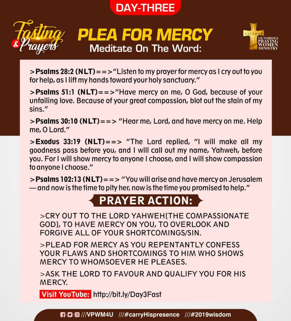 FASTING AND PRAYERS 2019: DAY 3
